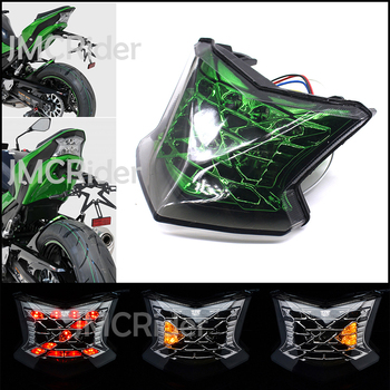 Motorcycle Integrated LED Tail Light Brake Stop Light Turn Signals For Kawasaki Taillight Z650 Z900 NINJA 650 ABS 2017 2018 for kawasaki ninja650 z650 z900 z 900 650 2017 2018 rear led brake taillight blinker indicator integrated lamp turn signal light