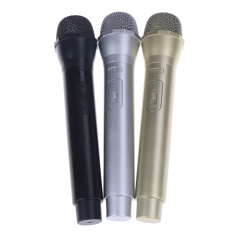 1Pc 3 Colors Dummy Microphone Educational Toys Simulation Mic Model Shell Performance Props Children Toys Microphone Model