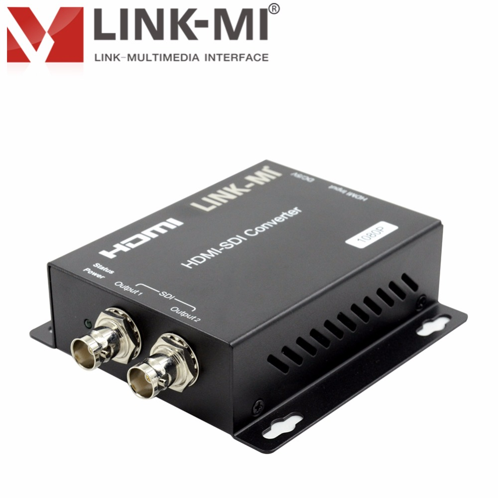 LINK-MI LM-HSD1 SDI splitter 1x2 HDMI to SDI optical audio converter with multiple formats support 1080P for Camera Home Theater