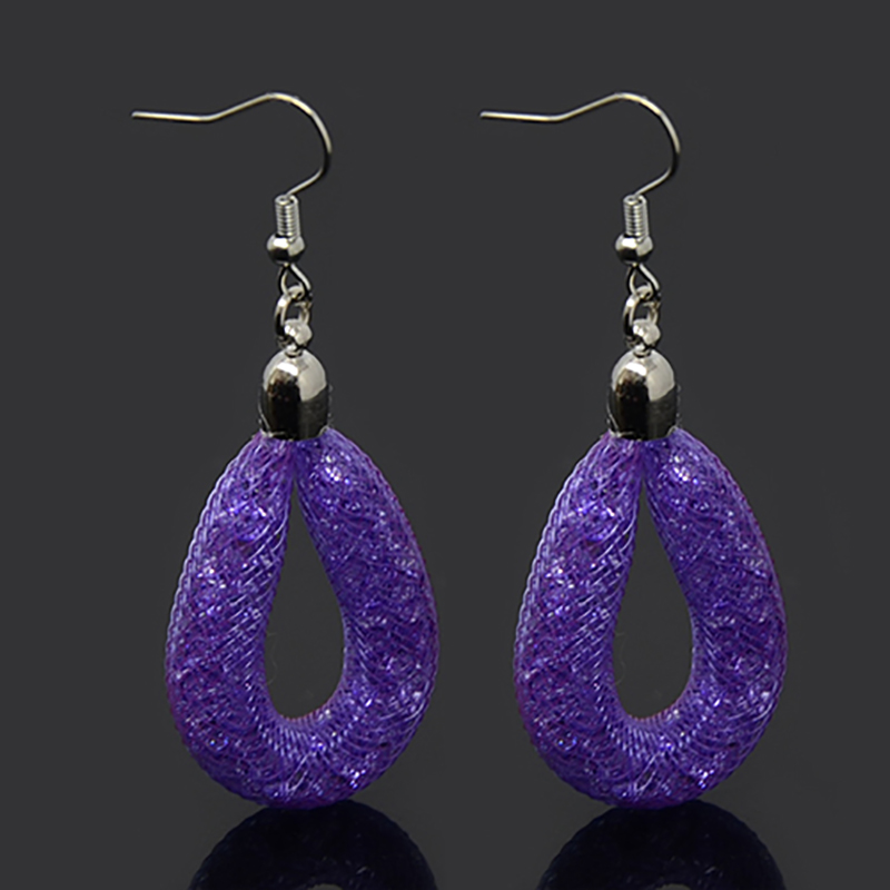 11 Colors Shining Crystal Earrings Water Dangle Drop Earrings With Tiny Resin Crystal Filled For Women Party