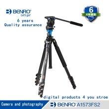 BENRO A1573FS2 Профессиональный алюминиевый штатив для видео Камера 3D жидкости голову видеопленку двойного назначения Бесплатная доставка, ЕС беспошлинный