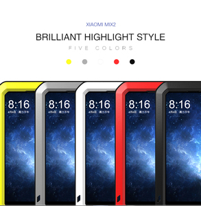 Image 5 - LOVE MEI Aluminum Metal Case on for Xiaomi Mi MIX 2 Case Life Waterproof Glass Cover Fundas Xiomi MIX 2 MIX2 Shell Men Women