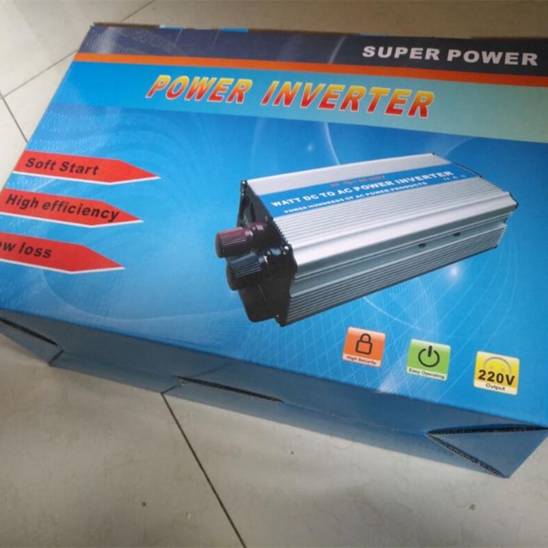 free shippping Modified Sine Wave power inverter 3000w peak 6000W DC12V to AC 220V dc ac