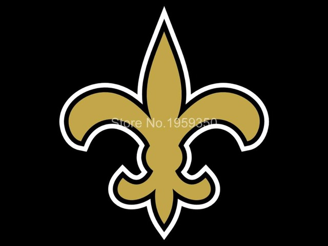 New Orleans Saints Logo Car Flag 12x18inches Double Sided 100d