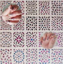 NTL-A(01)30pcs/Set Nail Art Stickers 3D Red Butterfly Manicure Tools Decorations  Accessories For UV Gel Polish