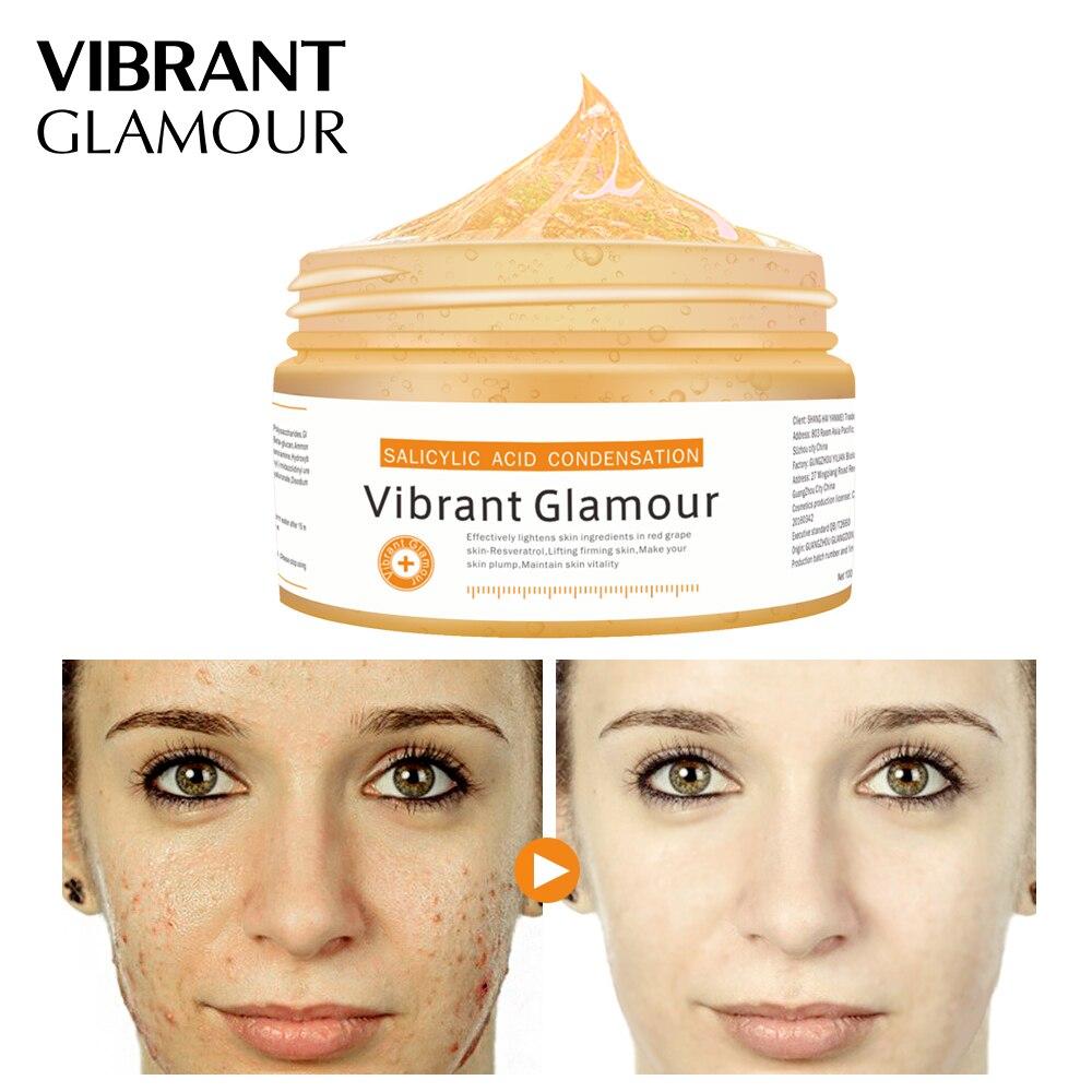 Vibrante GLAMOUR ácido salicílico condensación cara máscara cuidado de la piel eliminar el acné tratamiento de Control de aceite pigmentación Corrector crema