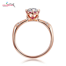 COLORFISH New Collection 925 Sterling Silver Finger Ring Red Cz Rose Gold Color Vintage Ring for Women Sterling-Silver-Jewelry
