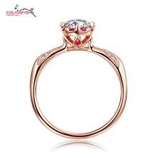 Colorfish Новая коллекция 925 серебро палец кольцо Красный CZ розовое золото Цвет Винтаж кольцо для Для женщин стерлингового серебра– ювелирные изделия