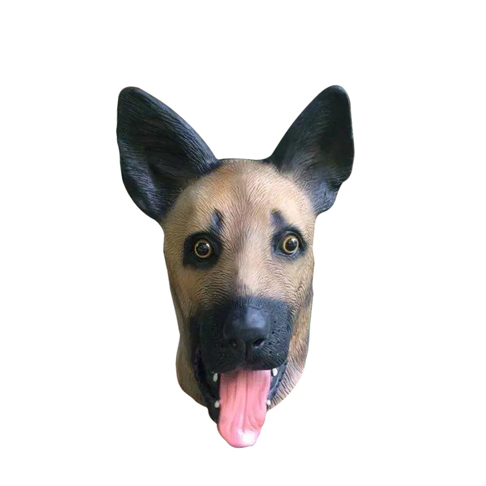 Novelty Nature Latex Rubber Full face Dog Mask Halloween Carnaval Easter Party Costume Animal Head Realistic silicone Masks 2017