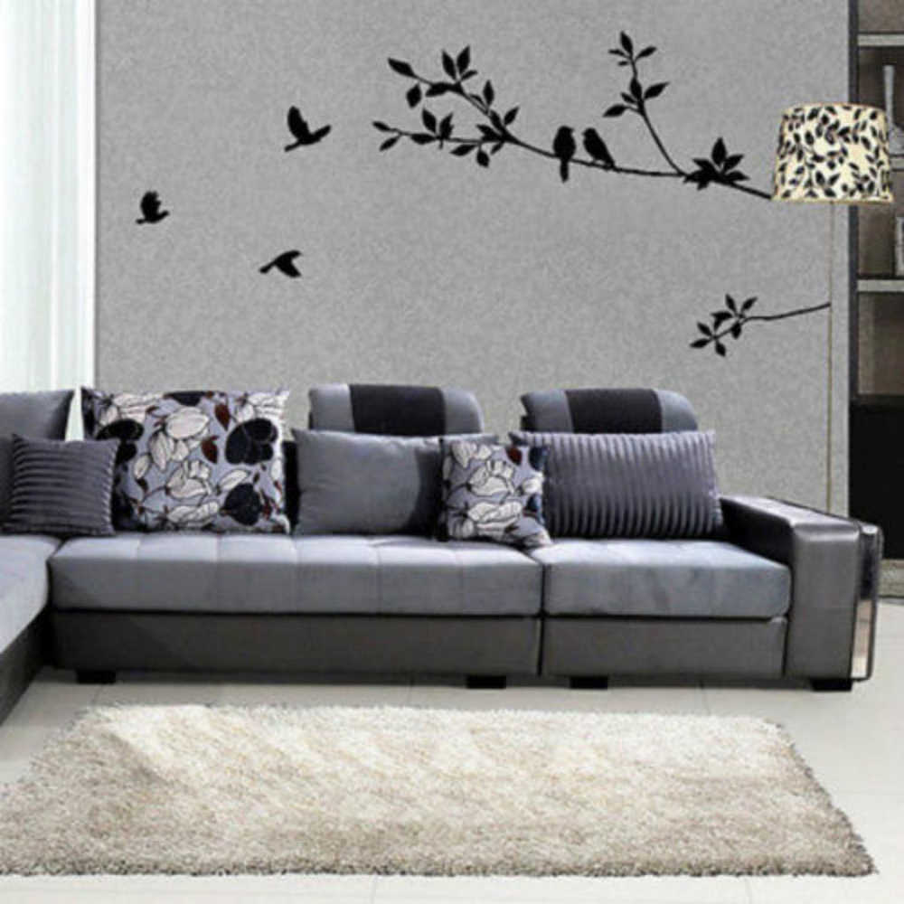 Removable  Black Birds Branch Tree Wall Sticker Living Room Bedroom Kids Room Art Home Decor