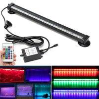 Işığın IP68 RGB LED Ampul Tüp 12/26/32/46 cm Uzaktan Kumanda Balık Tankı Akvaryum Lambası 18 SMD Hava Bubble Işık Şerit Dalgıç