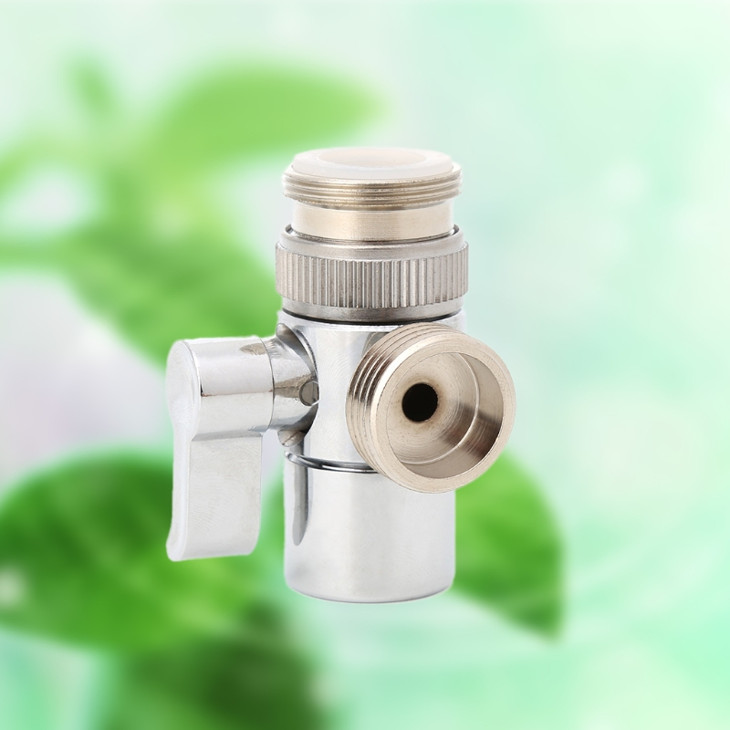 US $4.06 17% OFF|Bathroom Kitchen Brass Sink Valve Diverter Faucet Splitter  to Hose Adapter M22 X M24-in Kitchen Faucet Accessories from Home ...