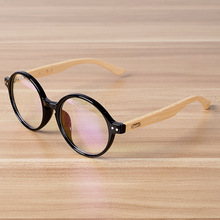 Wooden Round  Shape Eyeglasses