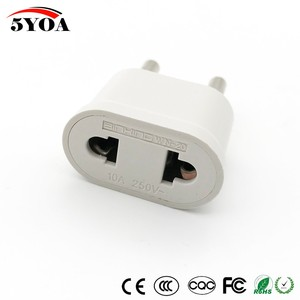 Image 2 - 2pcs US USA to EU EURO Europe Travel Power Plug Adapter Charger Converter for USA converter White