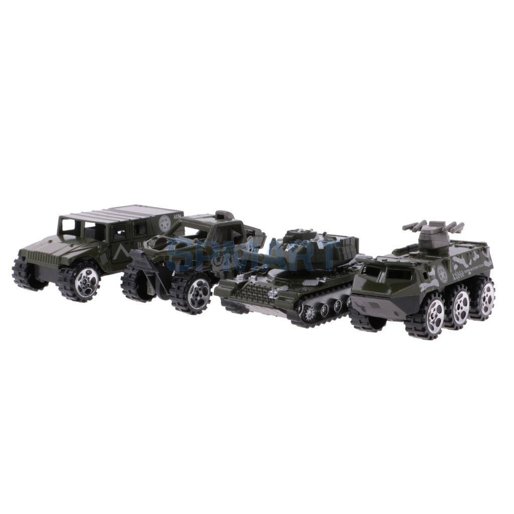 1:64 Diecast Army Cars Truck Off-road Car Tank Model Set Toy Kids Boy Gift Preschool Developmental Toy
