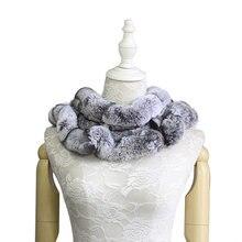 2018 Winter Warm Women s Real Fur Scarves Fashion Casual Ring Genuine Rex Rabbit Wraps Soft Natural Shawls Scarf Collar