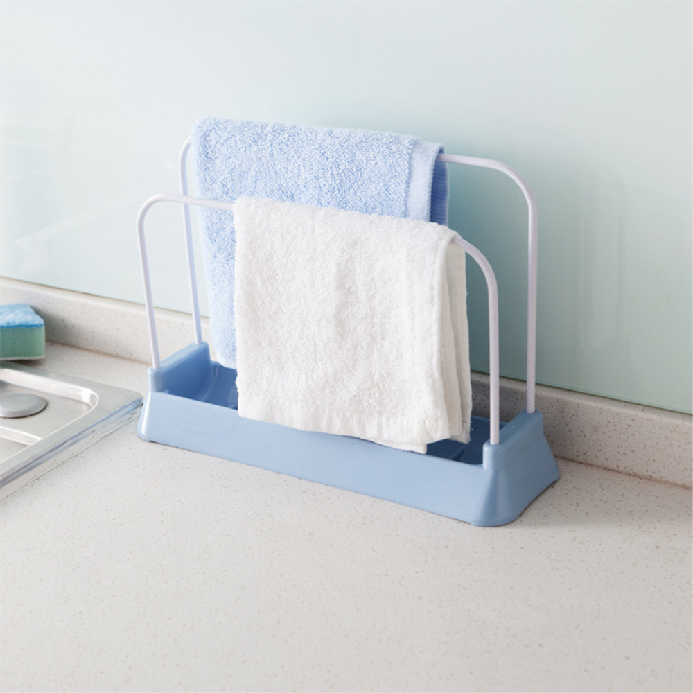 Plastic Carbon Steel Stand Racks Chopping Board Sponge Sink Frame Rag Towel Hanging Shelf Dish Holder Storage Rack for Kitchen