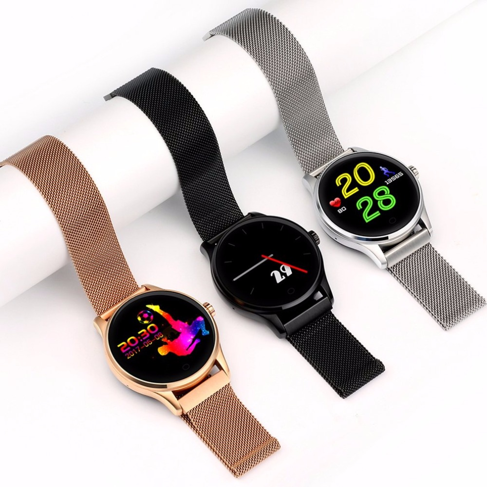 Bluetooth 4.0 Smart Watch Ultra Thin Mesh Belt Stainless Steel Wristwatch 1.22inch Ips Screen 300mah Battery Heart Rate Sensor Orders Are Welcome. Men's Watches