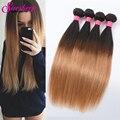 Hot Peruvian Virgin Hair Straight Ombre Human Hair Weave 4 Bundles Unice Hair Grade 8A Unprocessed Virgin Hair Peruvian Straight