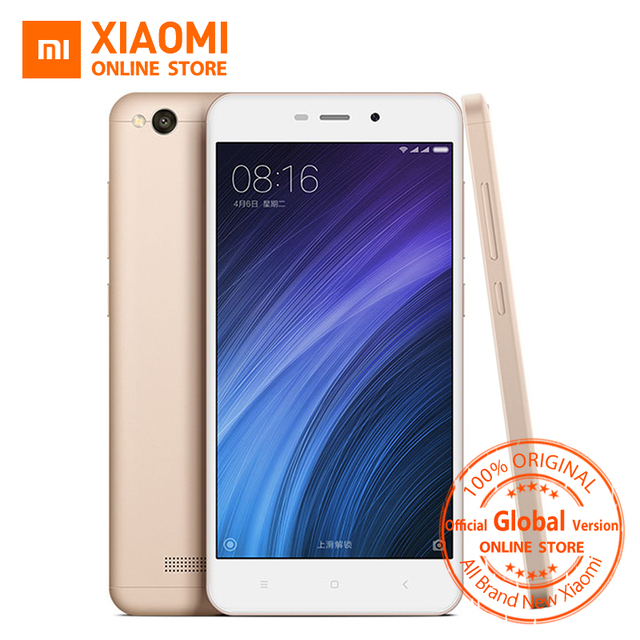 Global Vesion Xiaomi Redmi 4A 32GB ROM Mobile Phone Snapdragon 425 Quad Core CPU 2GB RAM 5.0 Inch 13.0MP camera 3120mAh Battery