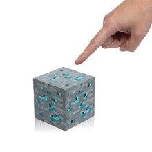 Think Geek Minecraft Light Up Diamond Ore Redstone Square LED Figure Toys Night Light Professional Lighting