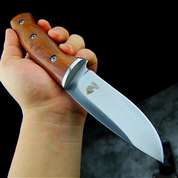 PEGASI Japanese mirror light high quality 9CR18Mov  tactical knife outdoor hunting knife outdoor defensive sharp camping knife 1