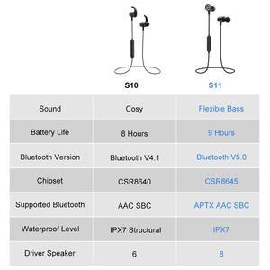 Image 5 - Mpow auriculares S11 ipx7 impermeables con Bluetooth 5,0, dispositivos deportivos APTX con diseño magnético y 9H de reproducción para iPhone, Samsung, Huawei y Xiaomi