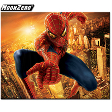 New Fashion 5D Diy Diamond Embroidered Hero Spiderman Square or Round Gift Set Home Decor Crafts Painting