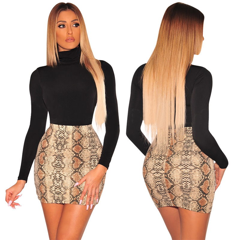 Image 3 - Sexy Women Snake Print Skirt Summer High Waist Mini Skirt Short Pencil Bodycon Femme Slim Package Hip Plus Size 2019-in Skirts from Women's Clothing