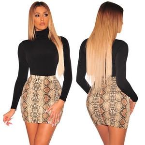 Image 3 - Sexy Women Snake Print Skirt Summer High Waist Mini Skirt Short Pencil Bodycon Femme Slim Package Hip Plus Size 2019