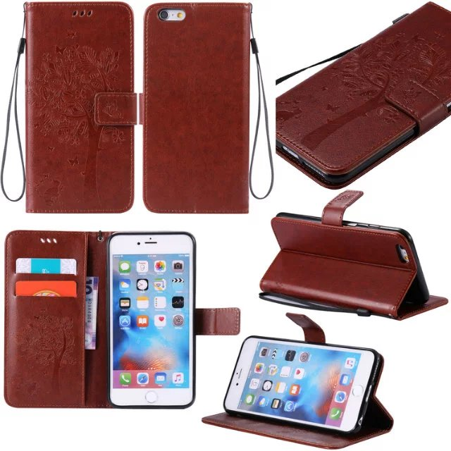 Leather Wallet Cases For coque iPhone 6Plus 6SPlus Case Cover for Apple iPhone6P