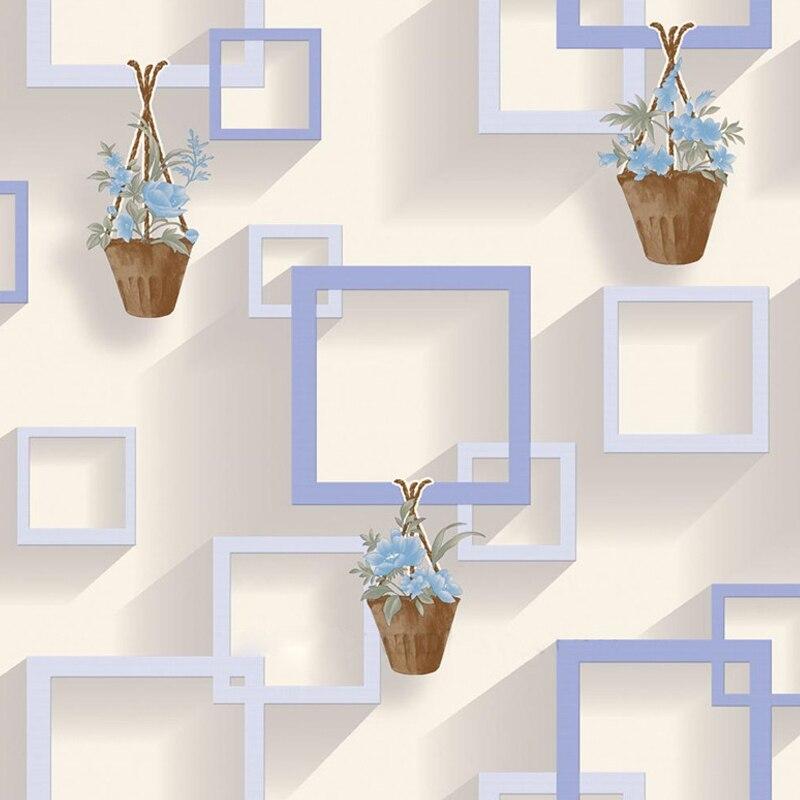 3D Moderne Tapeten Wohnkultur Kurze Wand Papier Non Woven 4D Rahmen ...