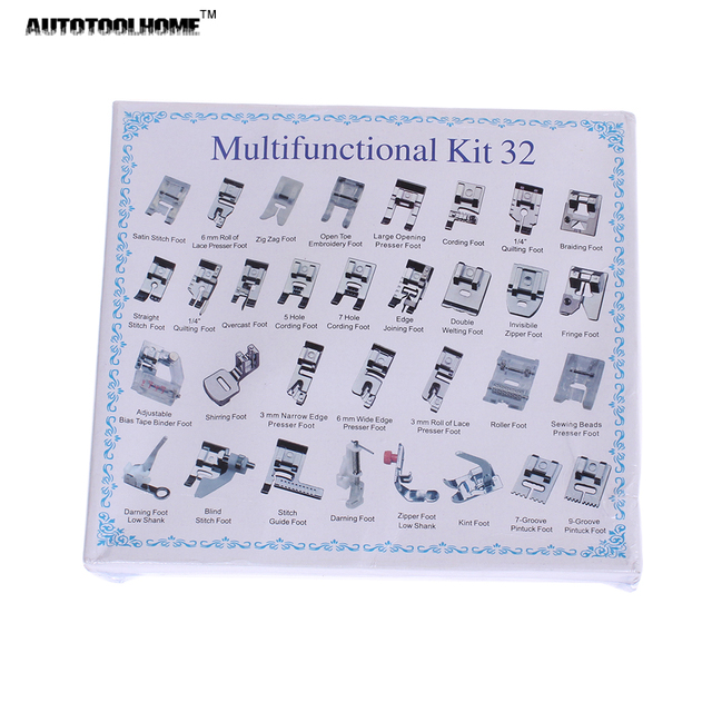 New Universal 40pcs Domestic Sewing Machine Presser Foot Feet New Blind Stitch Brother Sewing Machine