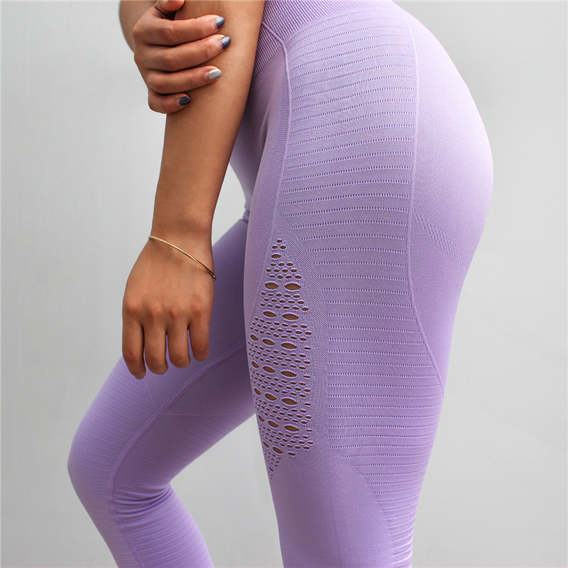 Women High Waist Sport Leggings Running Pants Energy Seamless Solid Yoga Pants Super Stretchy Gym Shark Workout Fitness Tights in Yoga Pants from Sports Entertainment