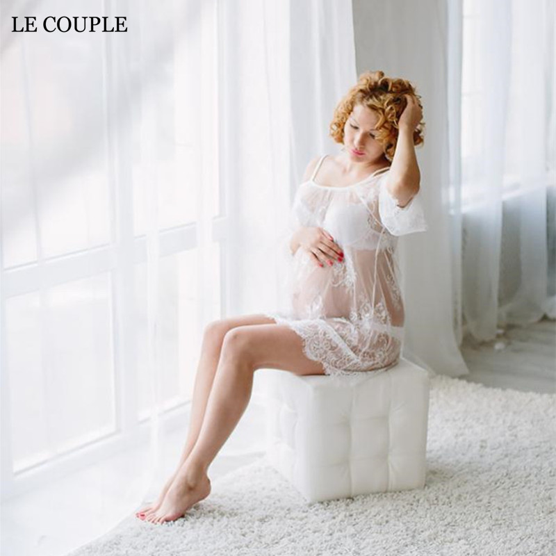 Le CoupleMaternity Photography Props Dress Sexy Maternity Lace Slip Dresses For Photo Shoot Fashion Pregnancy Dress