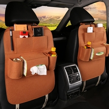 Car Back Seat Organizer Universal Storage Bag Felt Covers Backseat Holder Multi-Pockets Container Stowing Tidying Styling Box цены