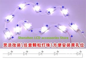 Image 5 - 70Pieces/lot  6V  Lens general LCD TV modified LED lamp bead lamp  32 65 inch repair LCD TV backlight Bar  100%NEW