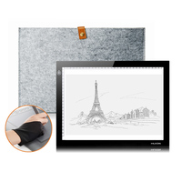HUION L4S A4 LED LIGHT PAD Tracing Light Broad Tablet For Drawing Wool Liner Bag Two