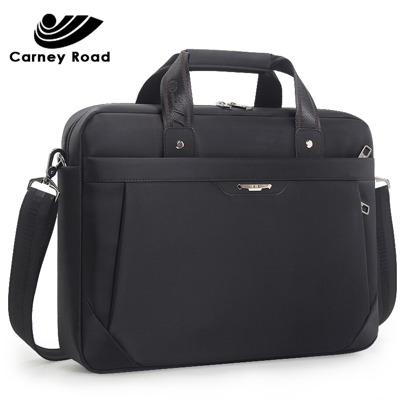 Brand Business Men Briefcase Waterproof Oxford 15.6 Inch Laptop Bag Causal Office Male Messenger Bag Document Shoulder Bag