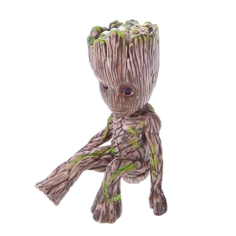 Baby Groot Flowerpot Flower Pot Action Figures Guardians Of The Galaxy Toy Tree Man Flower Pot Garden Planter