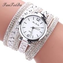 FanTeeDa Brand Top Luxury Ladies Watches Women PU Leather Strap Quartz Wristwatch Fashionable Female Quartz Watches Clock
