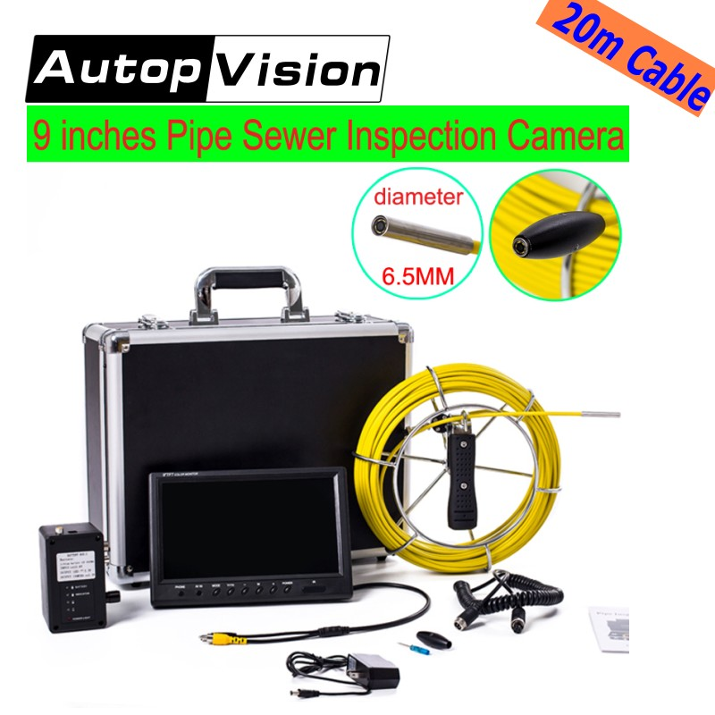 free shipping 20M Drain Pipe Inspection camera system 9