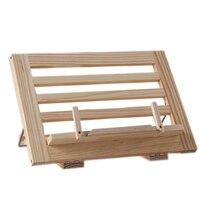 Holz Rahmen Lesen Bücherregal Halterung-Buch Lesen Halterung Tablet Pc Unterstützung Musik Ständer Holz Tisch Zeichnung Staffelei