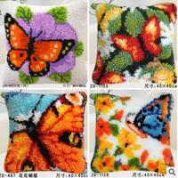 Latch hook rug kits sets for embroidery stitch thread Carpet embroidery Beautiful Butterfly Picture Threads for embroidery hook