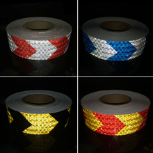 5cmx5m Reflective Warning Tape Self Adhesive Sticker Arrow Printing for Car& Motorcycle 20roll wholesale express reflective warning tape self adhesive sticker for car