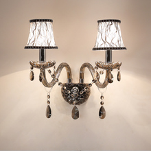 Modern led crystal chandeliers Gray K9 ceiling Fixture