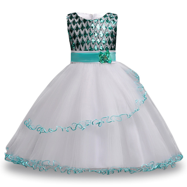 ce3f2d85b Party Dresses Children Fancy Costume Summer Dress For Girls Sequins  Princess Dress Kids Teenage Girls Clothing 8 9 10 12 14 Yea