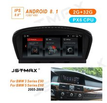 "JSTMAX 8,8 ""ips Android 8,1 PX6 автомобиль радио мультимедиа gps плеер для BMW 5 серии E60 E61 E63 E64 E90 E91 E92 CCC CIC системы(China)"