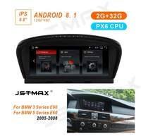 JSTMAX 8,8 ips Android 8,1 PX6 автомобиль радио мультимедиа gps плеер для BMW 5 серии E60 E61 E63 E64 E90 E91 E92 CCC CIC системы