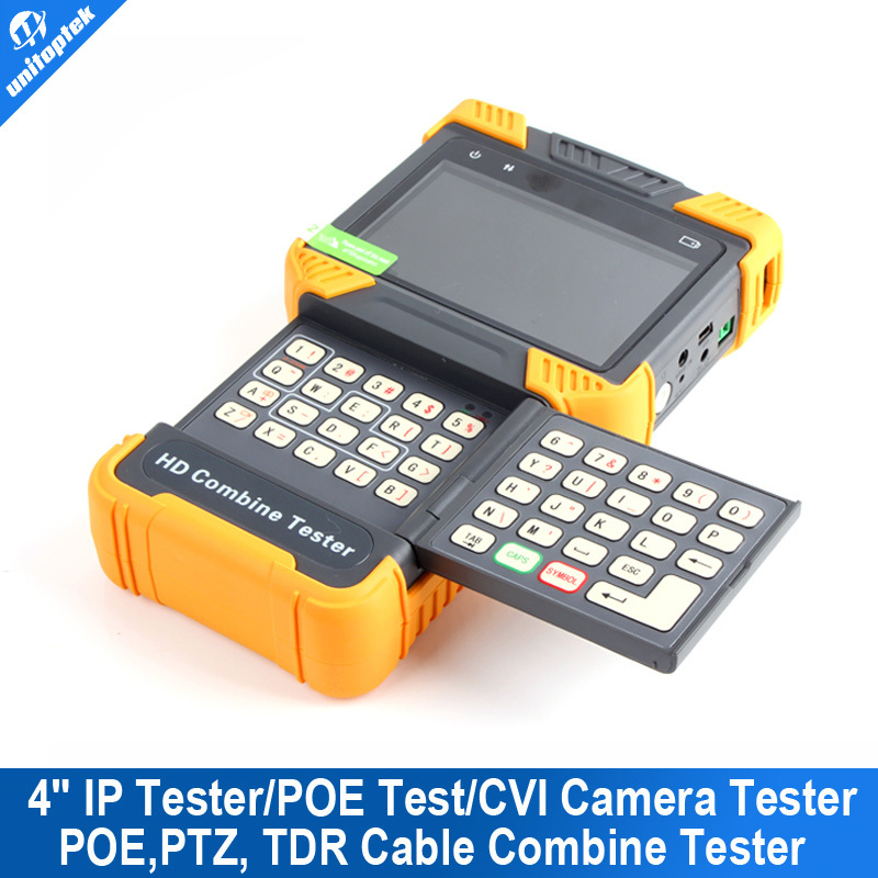 4.0'' LCD Screen 1080P HDMI CCTV IP Tester/POE Test/ HD CVI Camera Tester TDR Cable Tester With 8G Momory Card And Video Record  цены